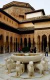Alhambra sąd lwy Fotografia Royalty Free