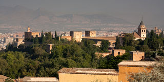 Alhambra seen from behind looking out to Granada Royalty Free Stock Photography