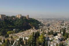 alhambra sikt Fotografering för Bildbyråer