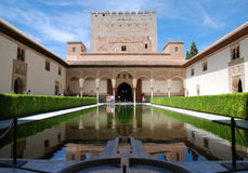 alhambra slott Royaltyfri Bild