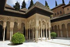Alhambra slott av lejon, Granada, Spanien Arkivfoton