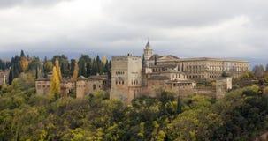 Alhambra slott i Granada Arkivfoton