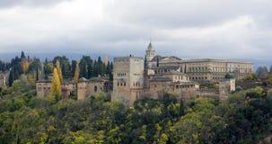 Alhambra slott i Granada Fotografering för Bildbyråer