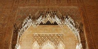 alhambra slotttak Royaltyfri Foto