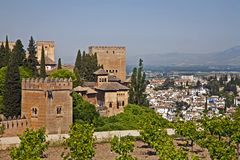 The Alhambra in Spain royalty free stock photography
