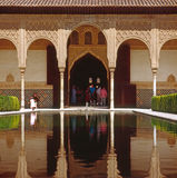 Alhambra,Spain. Pool in palace of Alhambra,Spain royalty free stock photo