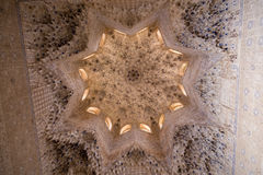 Alhambra Star Shaped Celiling Royaltyfri Bild