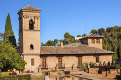Alhambra Stone Building Granada Andalusia Spanien Arkivfoto