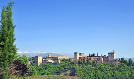 Alhambra at sunset Stock Photography