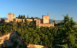 Alhambra at sunset Royalty Free Stock Images