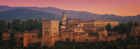 Alhambra at Sunset Stock Images