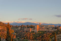 Alhambra Sunset Royalty Free Stock Images