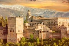 Alhambra sunset Stock Photography