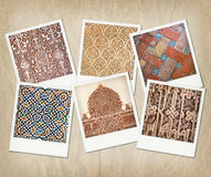 Alhambra textures Royalty Free Stock Photo