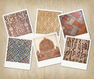 Alhambra textures Royalty Free Stock Photo