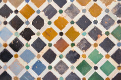 Alhambra tile wall. Tile detail on the wall in alhambra Stock Photo