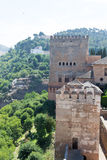 Alhambra on top of the hill Royalty Free Stock Photography