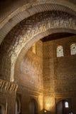 Alhambra, Torre de Comares, rich decoration in entrance Stock Photo