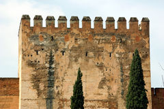 Alhambra Tower. Tower at the Alhambra Palace, Granada, Spain royalty free stock image