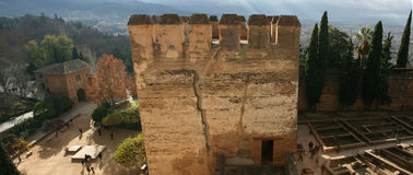 Alhambra Tower av vördnad Fotografering för Bildbyråer