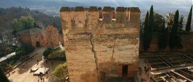 Alhambra Tower der Ehrerbietung Stockbild