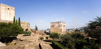 Alhambra Towers of Homage and the Hens Royalty Free Stock Photography