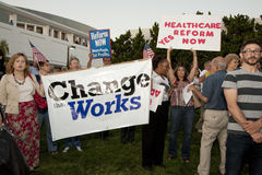Alhambra Town Hall on Healthcare Reform Stock Photos