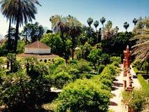 alhambra trädgård Arkivfoton