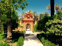 alhambra trädgård Fotografering för Bildbyråer