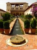 alhambra trädgård Royaltyfria Bilder