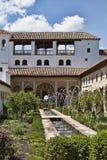 alhambra trädgårdar royaltyfri fotografi