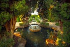 alhambra trädgårds- granada spain Royaltyfri Bild
