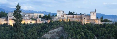 Alhambra At Twilight stock afbeeldingen