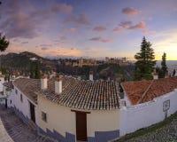 Alhambra und die Generalife-Paläste, Grenada, Spanien lizenzfreie stockfotos