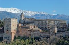 Alhambra und Sierra Nevada Stockbilder