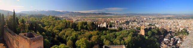 alhambra utsikt Royaltyfri Bild