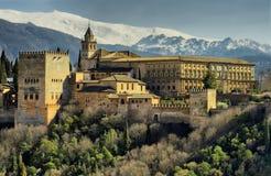 Alhambra van Granada stock afbeeldingen