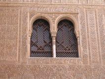 Alhambra Vensters stock foto