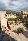 Alhambra. View of the Arab fortress Alhambra, Granada, Spain Royalty Free Stock Image