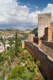 Alhambra. View of the Arab fortress Alhambra, Granada, Spain Stock Photography