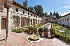 Alhambra von Granada, Andalusien, Spanien Stockfotos
