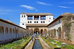 Alhambra von Granada, Andalusien, Spanien Lizenzfreies Stockfoto
