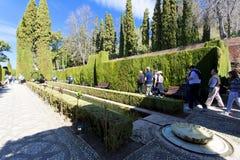 Alhambra von Granada, Andalusien, Spanien Stockbilder