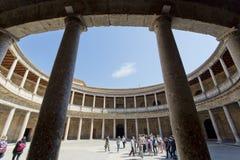Alhambra von Granada, Andalusien, Spanien Stockfotografie