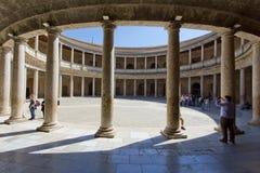 Alhambra von Granada, Andalusien, Spanien Stockbild