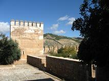 Alhambra Wall Royaltyfria Bilder