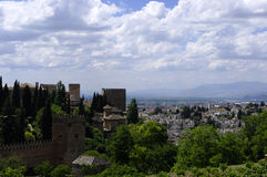The Alhambra walls. Granada Royalty Free Stock Photography