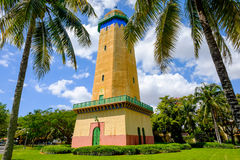 Alhambra Water Tower. Coral Gables, FL USA - April 4, 2015: The beautifully restored Alhambra Water Tower in the Spanish style influenced neighborhood of Coral stock photos