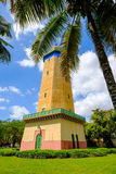 Alhambra Water Tower. Coral Gables, FL USA - April 4, 2015: The beautifully restored Alhambra Water Tower in the Spanish style influenced neighborhood of Coral royalty free stock photo
