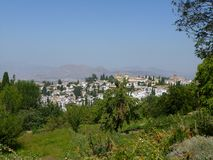 alhambra widok Granada Obraz Stock